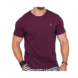 Camiseta Estonada Masculina Vinho