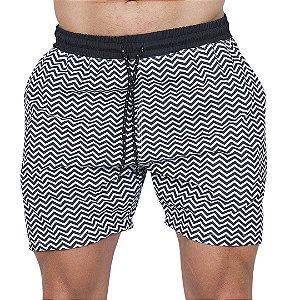 Shorts Tactel Masculino Linha Geométrica