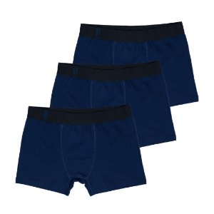 Kit 3 Cuecas Masculinas Azul Marinho