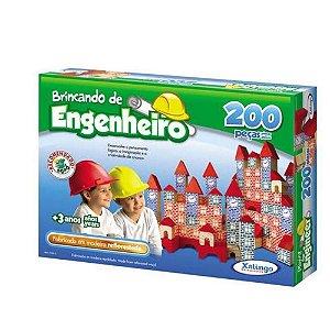 Brincando de Engenheiro Xalingo 200 Peças
