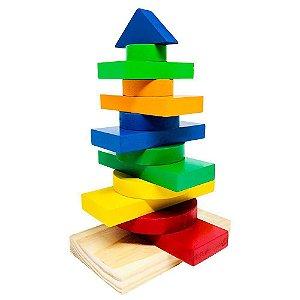 Torre Multiformas Carimbrás Encaixe de Madeira