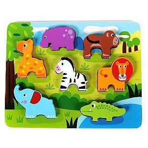 Tabuleiro Encaixe Tooky Toy Animais da Floresta