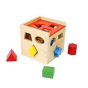 Cubo de Madeira para Encaixe Tooky Toy