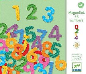 Conjunto de Imãs de Madeira - 38 Números