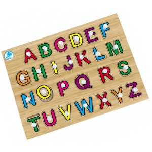 Quebra-Cabeça Simque Alfabetização com Pinos