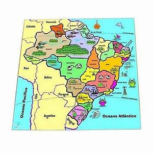 Quebra-Cabeça de Madeira Simque Mapa Estados