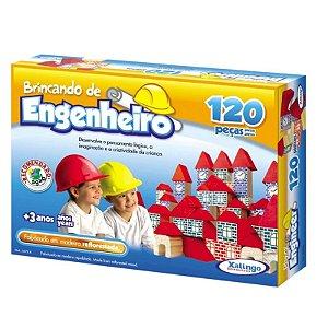 Brincando de Engenheiro Xalingo 120 Peças