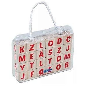Cubo Letras Hergg de Madeira