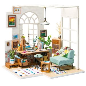 DIY House Home Office em Miniatura Soho Time