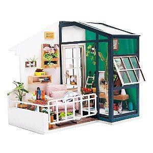 DIY House Varanda em Miniatura Balcony Daydreaming