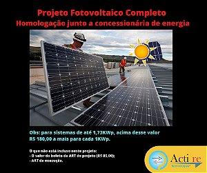 Elaboração De Projeto Solar Fotovoltaico Art E Homologação