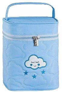 Porta Mamadeira Térmico Nuvem | Cor: Azul Claro