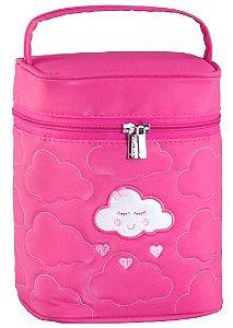 Porta Mamadeira Térmico Nuvem | Cor: Pink