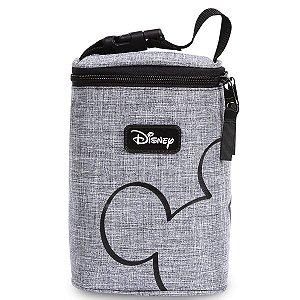 Porta Mamadeira Térmico Mickey | Cor: Cinza