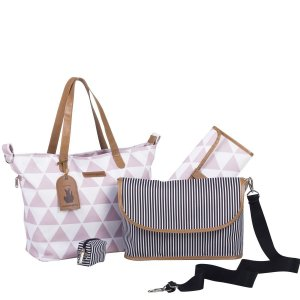 Bolsa Maternidade Masterbag Sofia 4 em 1 Manhattan   Cor: Rosa