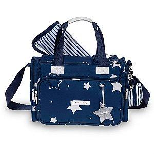 Bolsa Maternidade Masterbag Anne Estrelas | Cor: Azul marinho