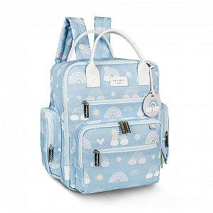 Mochila Maternidade Urban Arco-íris Masterbag   Cor: Azul