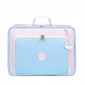 Mala Maternidade Vintage Colors Masterbag | Cor: Azul