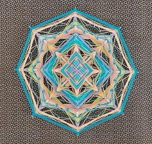 Mandala em linha 30 cm