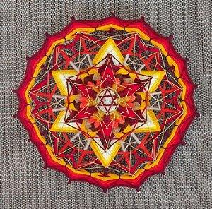 Mandala Estrela de Fogo 18 pontas e 37 cm