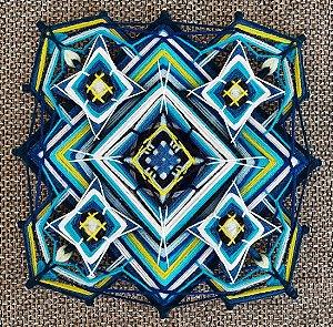 Painel Tecido com lã