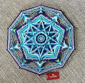 Mandala 10 pontas Azul com 50 cm