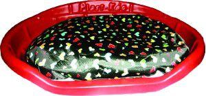Cama Plástica com almofada Nº 1 - Plast-Kão - (47 cm x 17 cm x 60 cm)