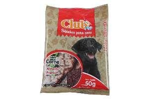 Bifinho carne 50g - Club Pet Doogs - caixa com 20 unidades
