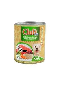 Patê Premium Raças Pequenas Sabor Carne com Vegetais - Club Pet - 280 g - c/ 12 un
