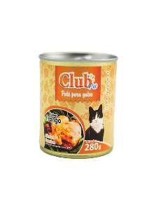 Patê Premium Gato Sabor Frango - Club Pet - 280 g - c/ 12 un