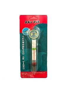 Termometro vidro com ventosa - Ace Pet - 13x1,7cm