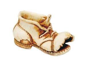 Enfeite bota hamster envelhecida - Trema - 17x8x9cm