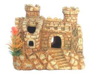 Enfeite castelo envelhecido medio - Trema - 16x9x13cm