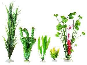 Enfeite plastico planta para aquarios - GPD - 20x9x2cm