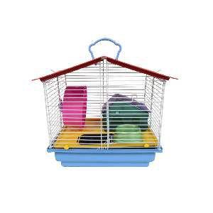 Gaiola para Hamster 1 Andar Completa - Jel Plast - (31 cm x 30 cm x 23 cm)