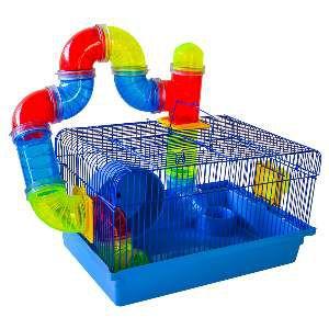 Gaiola para Hamster Labirinto - Jel Plast - (22 cm x 38 cm x 26 cm)