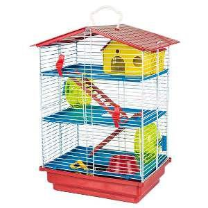 Gaiola para Hamster 3 Andares Labirinto - Jel Plast - (46 cm x 30 cm x 23 cm)