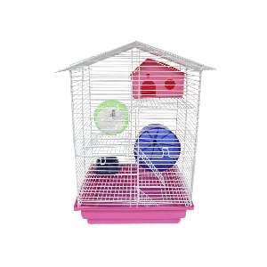Gaiola para Hamster 3 Andares - Jel Plast - (46 cm x 30 cm x 23 cm)
