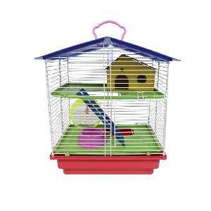 Gaiola para Hamster 2 Andares - Jel Plast - (37 cm x 30 cm x 23 cm)