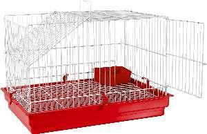 Gaiola para Coelho e Porquinho da Índia - Jel Plast - (37 cm x 51 cm x 34 cm) - Vermelha