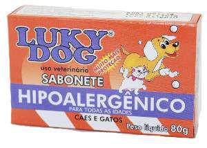Sabonete hipoalergenico - Lucky Dog - 80 g