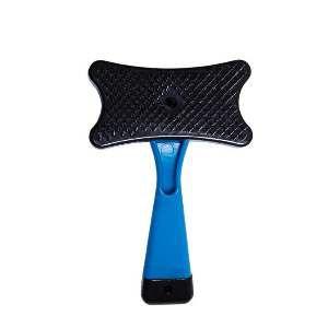 Rasqueadeira plastica pratica azul - Home Pet - 13x7,5cm