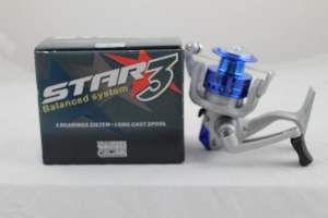 Molinete Star 3 com 3 Rolamentos - Pesca