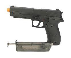Pistola eletrica airsoft CM122 P226 6mm - Rossi - 25cm