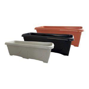 Floreira plastica N3 ceramica - Jorani - 60,5x20,5x17,5cm