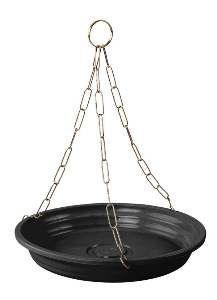 Prato plastico para vaso com corrente preto N26 N2 - Big Plast - 26x4cm