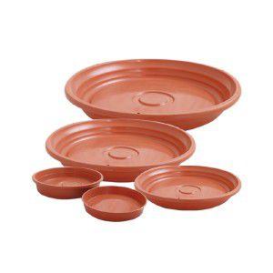 Prato plástico para vaso ceramica N4 - Jorani - 24x3,5cm