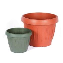 Vaso plastico adri verde iarok 20 - Big Plast - 20x15x13cm