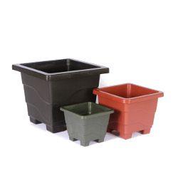 Vaso plastico verde iarok VQ-18 - Big Plast - 18x15x12cm