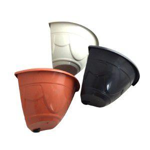 Vaso plastico de canto N1 preto - Jorani - 33x14,5cm